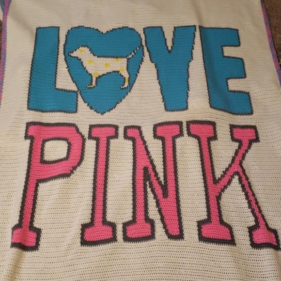 PINK Victoria's Secret Other - Hand made crochet blanket